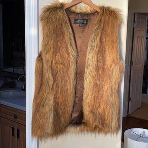 Red fox faux fur size medium